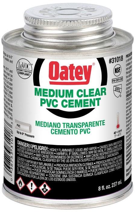 1/2 PINT PVC MEDIUM CLEAR CEMENT