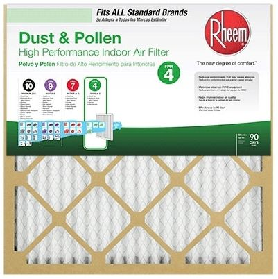 """10"""" x 14"""" x 1"""" Non-Woven Synthetic Media Pleated Air Filter - VP-MERV, Unbleached/Natural Kraft Board, MERV 8"""