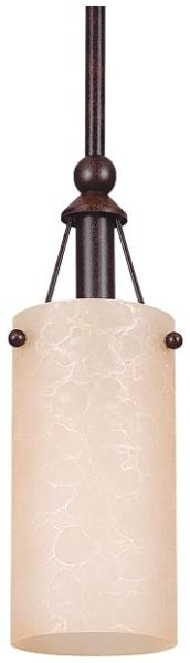 1-Light Satin Nickel Pendant Fixture