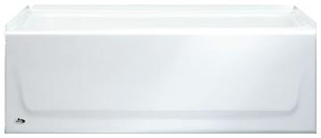 "011-3389-00 BOOTZ SYNIRON 1 54""X30""X13-3/4"" LH WHT STEEL ABFLR RGH RAISED OUTLET TUB"