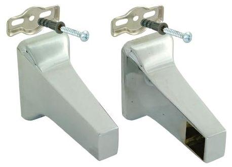 """5/8"""" Contemporary Towel Bar Brackets Chrome Pair"""