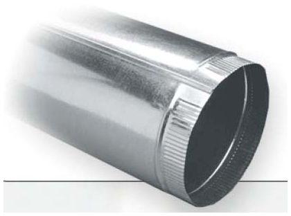 """4"""" x 3' Sheet Metal Pipe - Snap-Lock x Snap-Lock"""