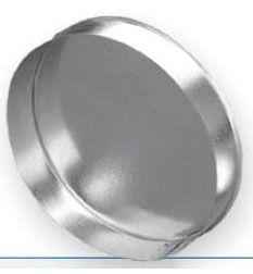 """16"""", 24 Gauge, Round, Female, Sheet Metal End Cap"""