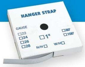 "1.5"" x 100', 26 Gauge, Roll, Sheet Metal Hanger Strap without Hole"
