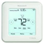 20 to 30 VAC, 0.02 to 1 A Heating, 0.02 to 0.05 A Fan, 6.89 Sq Inch Display, Square, Hardwired Power, Auto/Manual, 7/5-1-1/5-2/1 Day Programmable, Thermostat