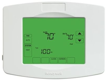 7 Day Programmable Thermostat - 10 Sq Inch Display, 20 to 30 VAC, 1 A/0.6 A
