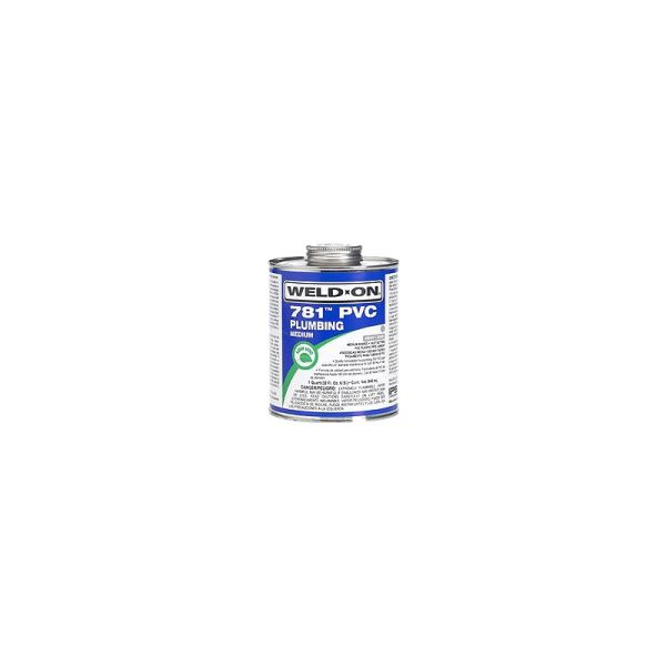 Medium-Bodied PVC Cement - WELD-ON/781, Clear, 1 Gallon Can