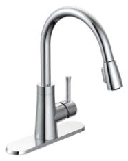 PD-150C MATCO NORCA CH SGL LVR HDL 1-3H PULL-DOWN SPRAY DECK MNT KITCHEN FAUCET W/ TWIST-CLICK