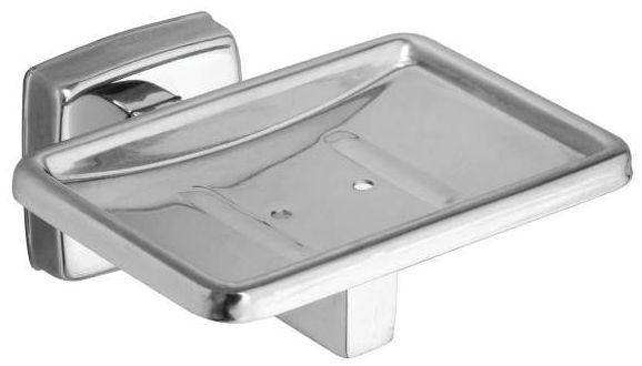 Contemporary Soap Dish Satin Nickel