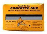 80 Lb Bag, Grey to Grey Brown, Concrete Mix