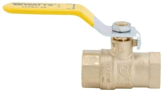 "1-1/4"" Forged Brass Full Port Ball Valve - Lever Handle, Soldered, 600# Non-Shock WOG, 150# SWP"