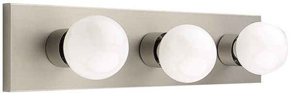 "18"" 3 Bulb Bath Vanity Fix Satin Nickel"