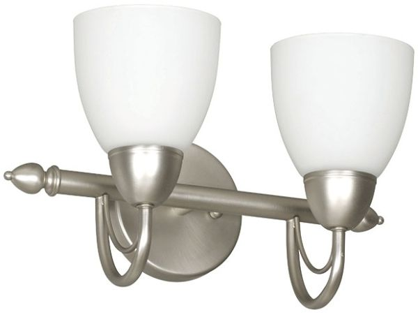 "16"" 2 Light Bath Vanity Fixture Satin Nickel"