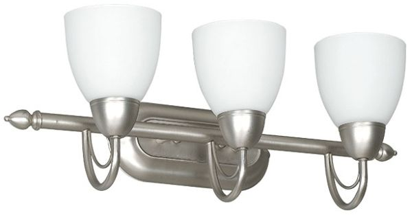 "24"" 3 Light Bath Vanity Fixture Satin Nickel"