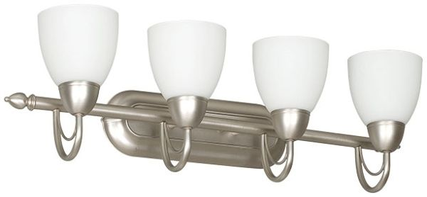"30"" 4 Light Bath Vanity Fixture Satin Nickel"