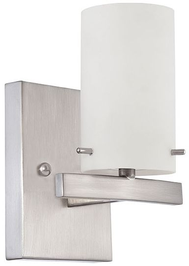 1-Light Vanity Fixture Satin Nickel