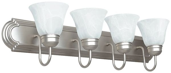 "30"" 4 Bulb Vanity Fix<p>Satin Nickel"
