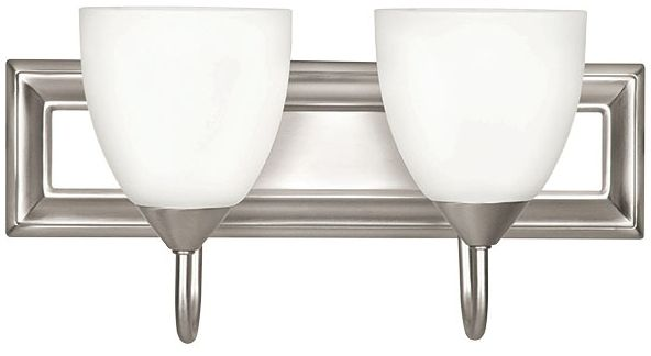 "18"" 2 Light Bath Vanity Fixture Satin Nickel"