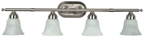 "33"" 4 Light Bath Vanity Fixture Satin Nickel"