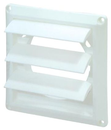 Louvered Vent Cover White