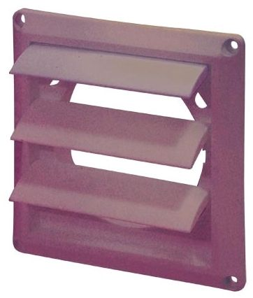 Louvered Vent Cover Brown