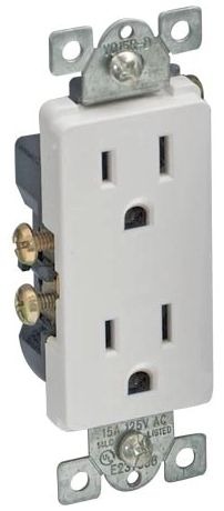 Deco Receptacle White