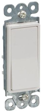 Ivory Deco Single Pole Wall Switch