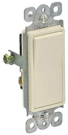 Deco 3-Way Wall Switch White
