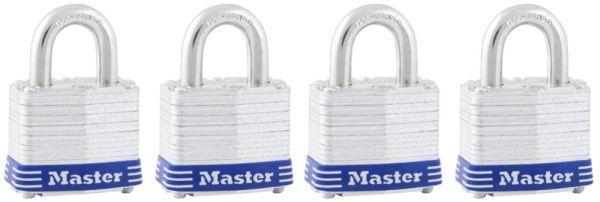 4 Pack Master Padlock Keyed Alike