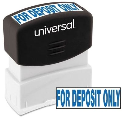 """For Deposit Only"" Stamp"