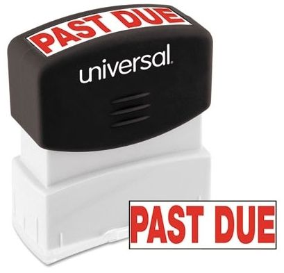 """Past Due"" Stamp"
