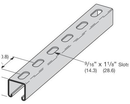 BLNS B22SH-120GLV SLOTTED HOLES STRUT 1-5/8 X 1-5/8 12GA CHANNEL PS200EH-10PG 610304 ==== ==================================
