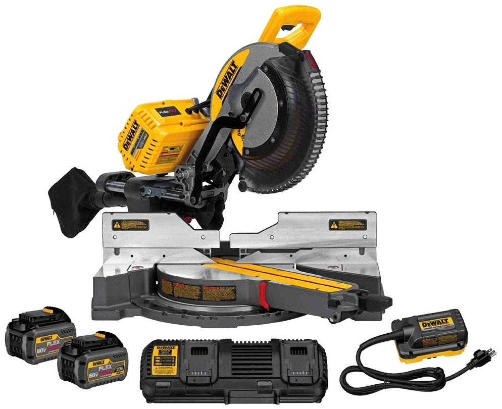 dwt DHS790AT2 DEWALT 120V MAX SLIDING MITER SAW KIT W/ ADAPTER (2) 60V 6 AH BATTERIES AND CHARGER