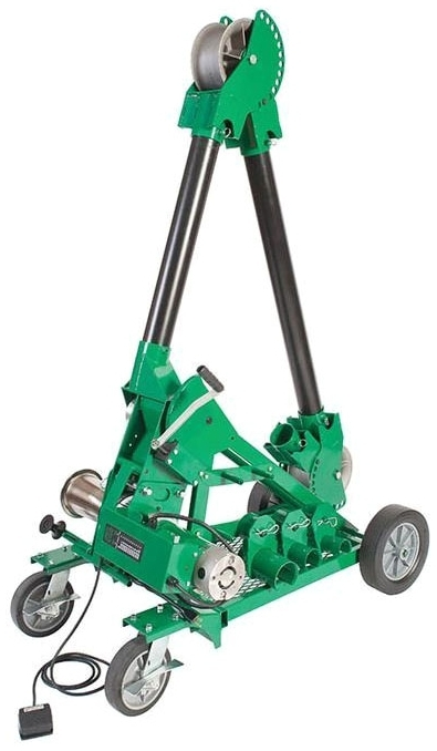 GREENLEE 6906 UT10 Package w/ Mobile VersiBoom Cable Puller Ultra Tugger Pull Force: 10000lbs Power Requirements: 120V AC & 20A Power Output: 1-1/2 HP