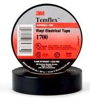 "3M 1700-3/4X60FT TEMFLEX VINYL GENERAL PURPOSE BLACK 7mil TAPE 3/4"" X 60FT"
