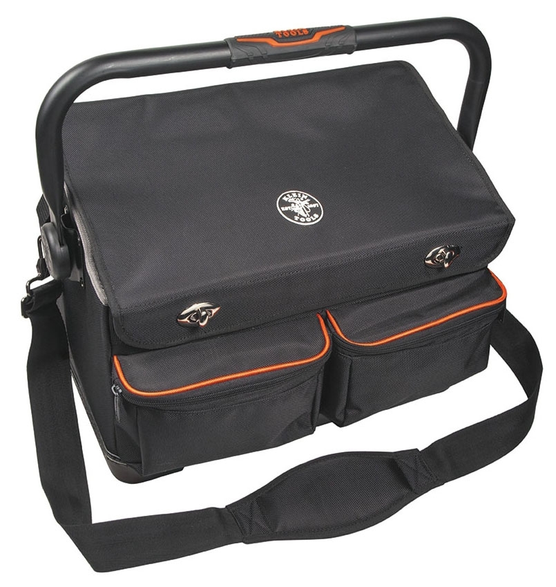 "KLEIN 55432 TRADESMAN PRO ORGANIZER 17"" TOOL TOTE WITH COVER"