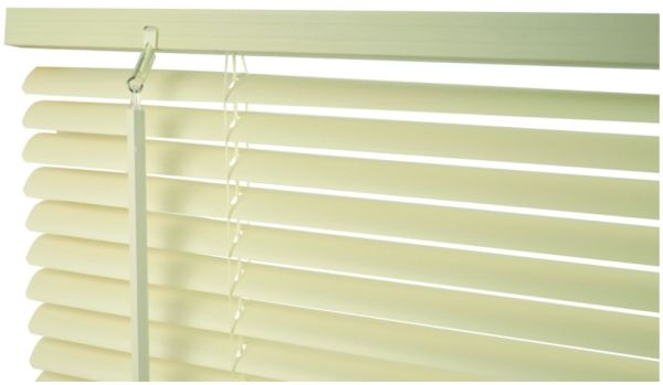 "63"" x 60"" Cordless Mini Blind - Vinyl, 1"" Slat, Alabaster"