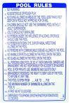Pool Rules Sign-NC English