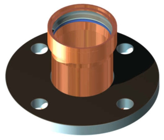 """2-1/2"""" Copper Press Flange"""