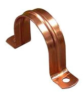 "1""<p>2-Hole Copper Pipe Strap"