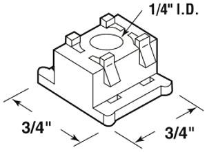 Bi-fold Door Guide Cap (PK 2)