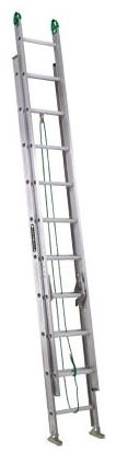20' Aluminum Extension Ladder - 225 Lb, Silver