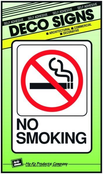 Self-Adhesive Sign - No Smoking