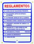 Pool Rules Sign-NC Spanish
