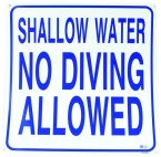 No Diving Sign - S.C Approved