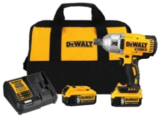 dwt DCF897P2 20V MAX XR 3/4-in Impact Wrench Kit Includes 2-BatterysCharger& Carrying Bag