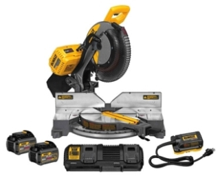 dwt DHS716AT2 DEWALT 120V MAX FIXED MITER SAW KIT W/ ADAPTER (2) 60V 6 AH BATTERIES AND CHARGER