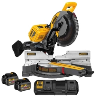 dwt DHS790T2 DEWALT 120V MAX SLIDING MITER SAW KIT (DUAL PORT CHARGER AND (2) DCB606 BATTERY PACKS)