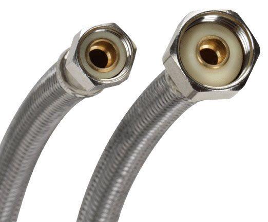 "3/8"" Comp x 16"" Lav Riser Stainless Steel"