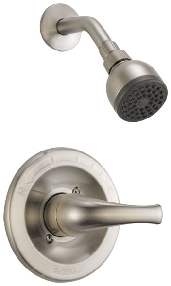 PEERLESS SNGL LVR SHOWER ONLY BN